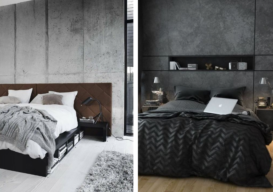 Concrete Wall Bedroom 2